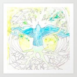 Vuelo | Granatovych Artwork | Oils on Water and Watercolors Art Print