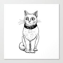 Slut Cat Canvas Print