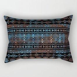 Bronze and Rust Vintage  Aztec Peruvian Tribal Pattern Rectangular Pillow