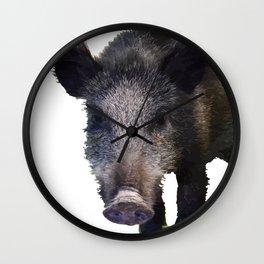 Crazy As A Peach Orchard Boar Vector Wall Clock