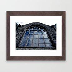 Segmented Sky Framed Art Print