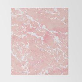 Modern pastel blush pink watercolor marble pattern Throw Blanket