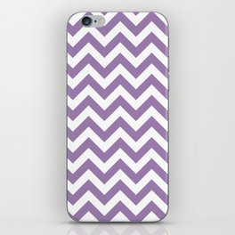 Chevron Print in Purple iPhone Skin