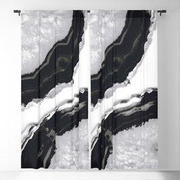 Gray Black Agate #2 #gem #decor #art #society6 Blackout Curtain