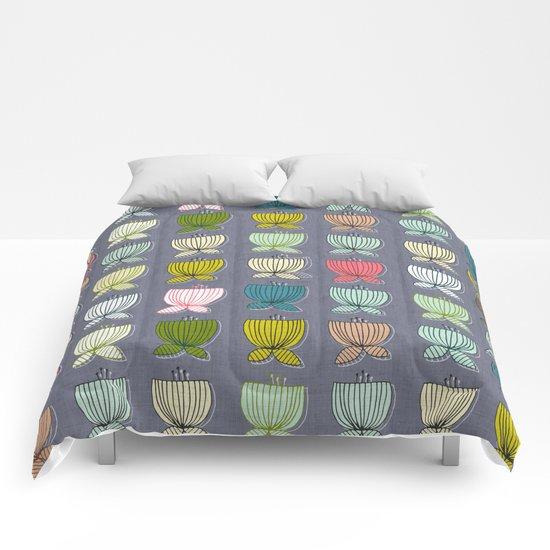 flower cups amethyst art Comforters