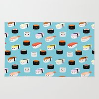 sushi Area & Throw Rugs featuring Sushi! by Sara Showalter