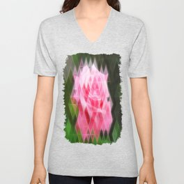 Pink Roses in Anzures 4 Art Triangles 2 Unisex V-Neck