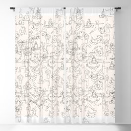Yoga Manuscript Blackout Curtain