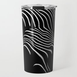 0721-AR Nude Female Naked BBW Geometric Black White Naked Body Abstracted Sensual Sexy Erotic Art Travel Mug