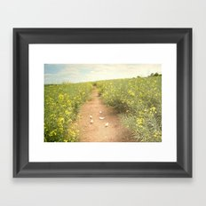 meadow of paperboats Framed Art Print