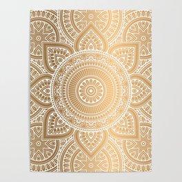 Gold Mandala 3 Poster