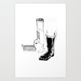 Country man Art Print