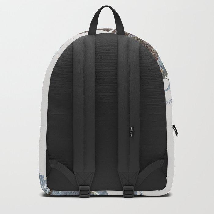 World Map(metal) Backpack
