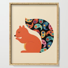 Paisley Squirrel Serving Tray