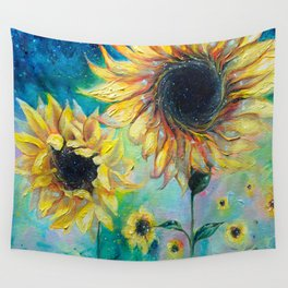Supermassive Sunflowers Wall Tapestry