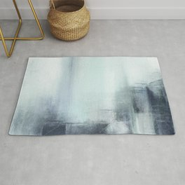 Skyscrapers Modern Abstract Painting - Living & Dining Room Interior Design 2019 Rug