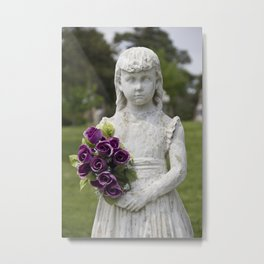 Girl Statue Closeup Metal Print
