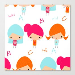 ABC Little Girls Canvas Print