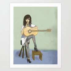 Now If Only I Could Play Guitar Art Print