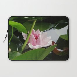 Beautiful White Pink Lotus Laptop Sleeve