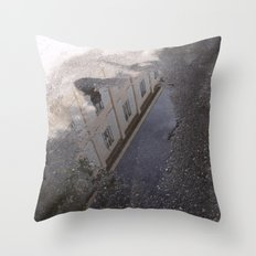 Youth Hostel found in a Puddle Throw Pillow