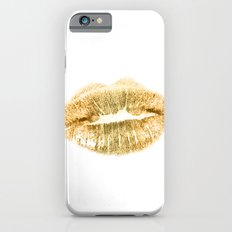 E 21 Gold Lips Slim Case iPhone 6