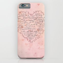I Love You in different languages iPhone Case