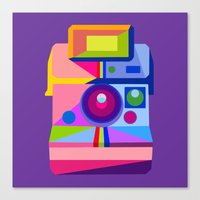 polaroid Canvas Prints featuring Polaroid by MaNia Creations