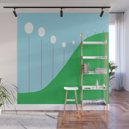 Abstract Landscape - Lights on the Hill Wall Mural