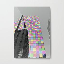 Rainbow Building Metal Print