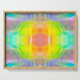 Prisms Play of Light 1 Mandala Serving Tray