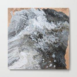 Marble & Copper 2 Metal Print