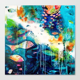 I Swim in Rainbows Canvas Print