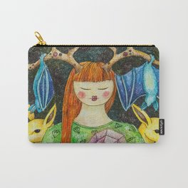 Gril with the Magic Stone Carry-All Pouch
