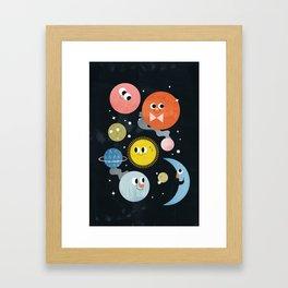 Happy Planets Framed Art Print