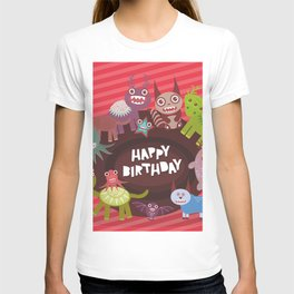 Happy birthday Funny monsters card T-shirt