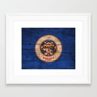 minnesota Framed Art Prints featuring Minnesota by C Liza B
