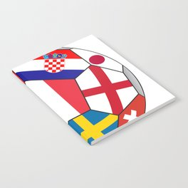 Football ball with various flags - semifinal and final Notebook
