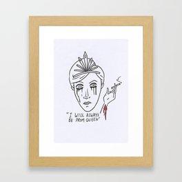 The prom queen Framed Art Print