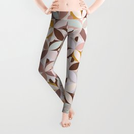 Neutral Modern Tile / Vintage Summer Leggings