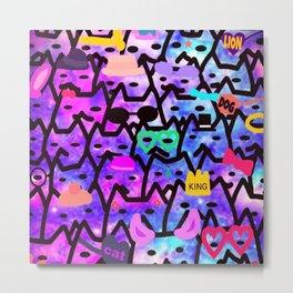 cats-348 Metal Print