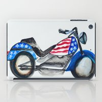 motorcycle iPad Cases featuring Motorcycle by Aniko Levai
