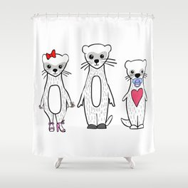 Ferret Family Shower Curtain