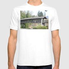 Bridge at the Falls MEDIUM Mens Fitted Tee White