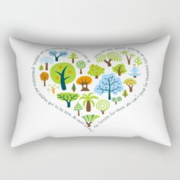 Protect the Forests: Love Trees Rectangular Pillow
