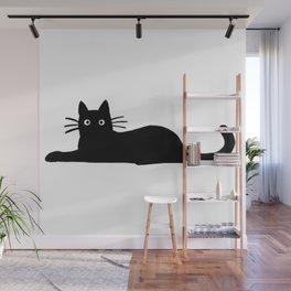 Black Cat Cute Wall Mural