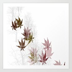 Leaves and Trees Art Print