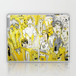 yellow people Laptop & iPad Skin