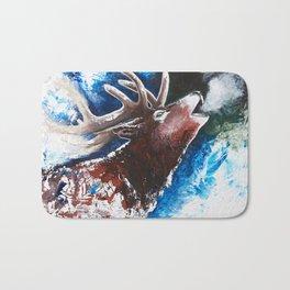Deer - Valentine - animal by LiliFlore Bath Mat