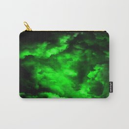 Envy - Abstract In Black And Neon Green Carry-All Pouch